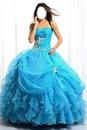 robe de marier bleau ciel