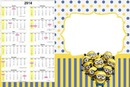 calendario minions 2014