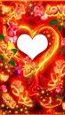 un coeur avec des roses et love 1 photo