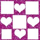 corazones y cuadros (collage)