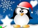 Pinguino en navidad