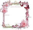 Papillons roses Romantique