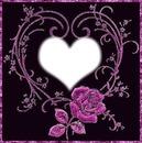 Coeur Tribal Avec Rose