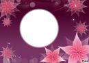 *cadre fleurs roses*