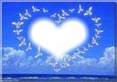 corazon en palomas