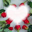 herz umgeben von rosen