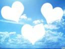 ciel coeur 3 photos