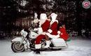 pere noel fait sa virée en moto
