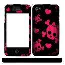 Celular caveira rosa/preto