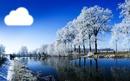 Neige au bord de l'eau