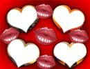 bisous amoureux