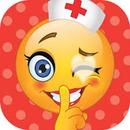 linda doctora de emoji con corazon
