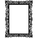 Cadre baroque noir