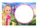 Moldura Barbie Castelo de Diamante
