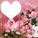 cadre coeur très romantique