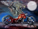 moto et lion