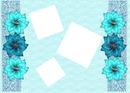 3 Fotos + Flores Azules