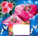 lettre d'amour avec boite chocolat 1 photo