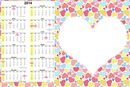 Calendario 2014 amor y amistad