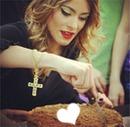 Coração no bolo fa Tini