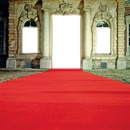la porte, fenetres et tapie rouge