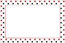 Quadro-Poás vermelhos e pretos com fundo branco.