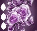 rosa com borboleta