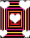 Cadre coeur fond multicolores 5 photos