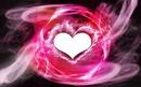 un coeur dans fumée rose 1 photo