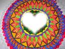 Mandala flower portrait