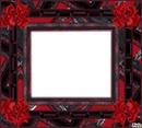 """cadre """" en rouge et noir """"..............!"""