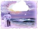 Couple d'amoureux sur la plage