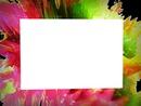 cadre coloré 1 photo