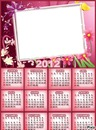 Calendario flores rosas