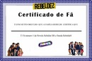 certificado de fã top 10