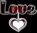 pendentif LOVE avec 1 coeur 1 photo