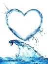 corazon en agua