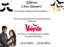 diploma de chica vampiro