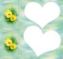 dos flores dos corazones