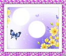 flores y mariposas