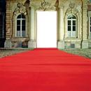 la porte avec tapie rouge