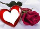 corazon y rosa