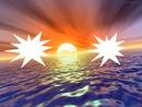 2 fotos por do sol