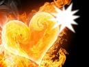coeur qui brule d'amour