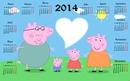 Calendario 2014 peppa pig