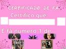 Certificado De Fã da:Selena Gomez