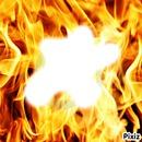 flaque dans feu