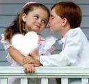 um coração com criança