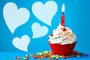 feliz cumpleaños cupcake Azul