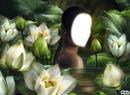 femme en fleurs
